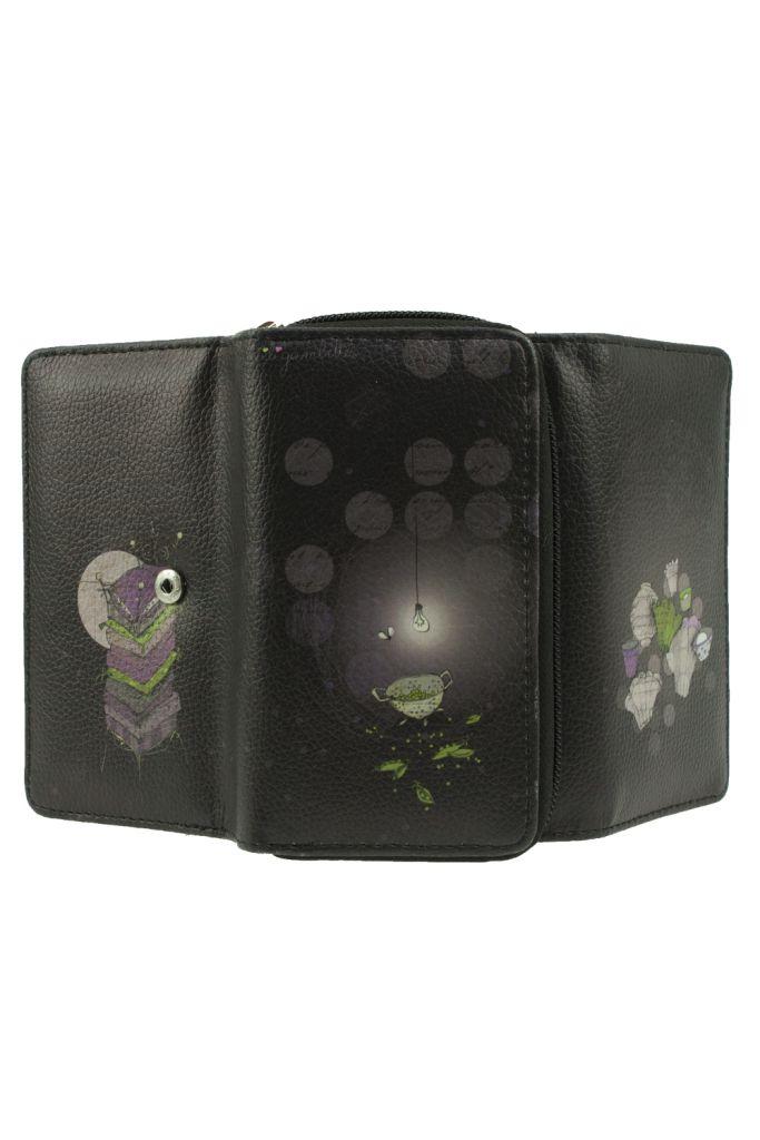 Compagnon violet fantaisie en cuir vegan petits pois Lili gambettes