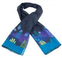 Foulard coloré en soie thème algues hinder Lili gambettes