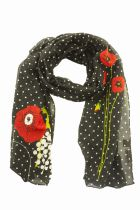 Foulard coquelicots noirs Liligambettes