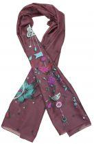 Foulard fantaisie Liligambettes en soie coton imprimé thème guirlande