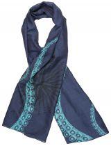Foulard femme coloré en soie Liligambettes thème tentacules