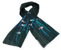 Foulard femme en soie et coton imprimé poissons Lili gambettes
