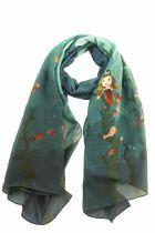 Foulard imprimé sirène en soie coton Lili gambettes