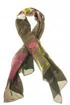 Foulard paysage en soie imprimée Lili gambettes