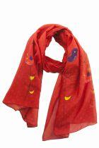 Foulard rouge piafs Lili gambettes