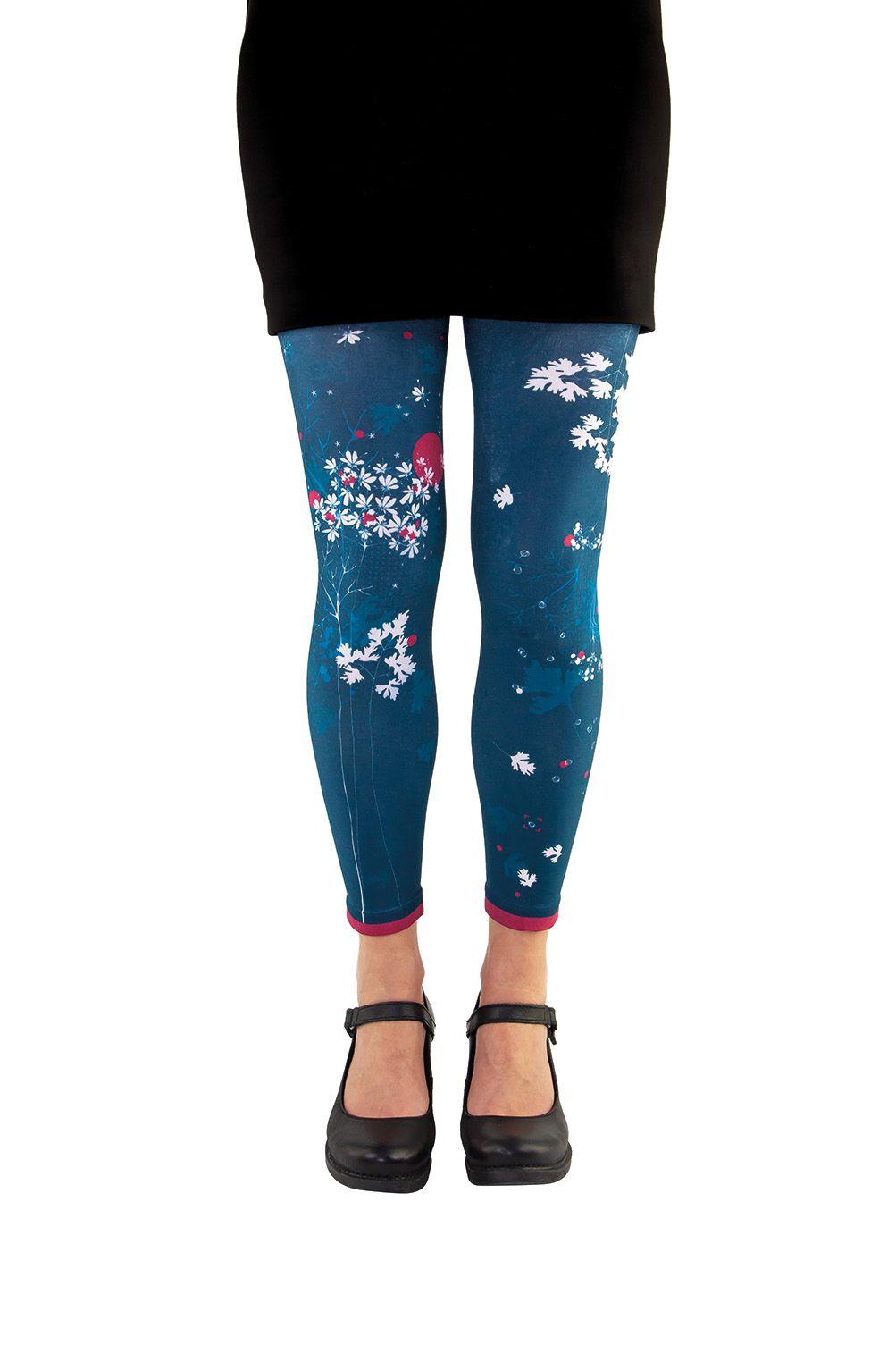 Legging bleu fantaisie coriandre Liligambettes
