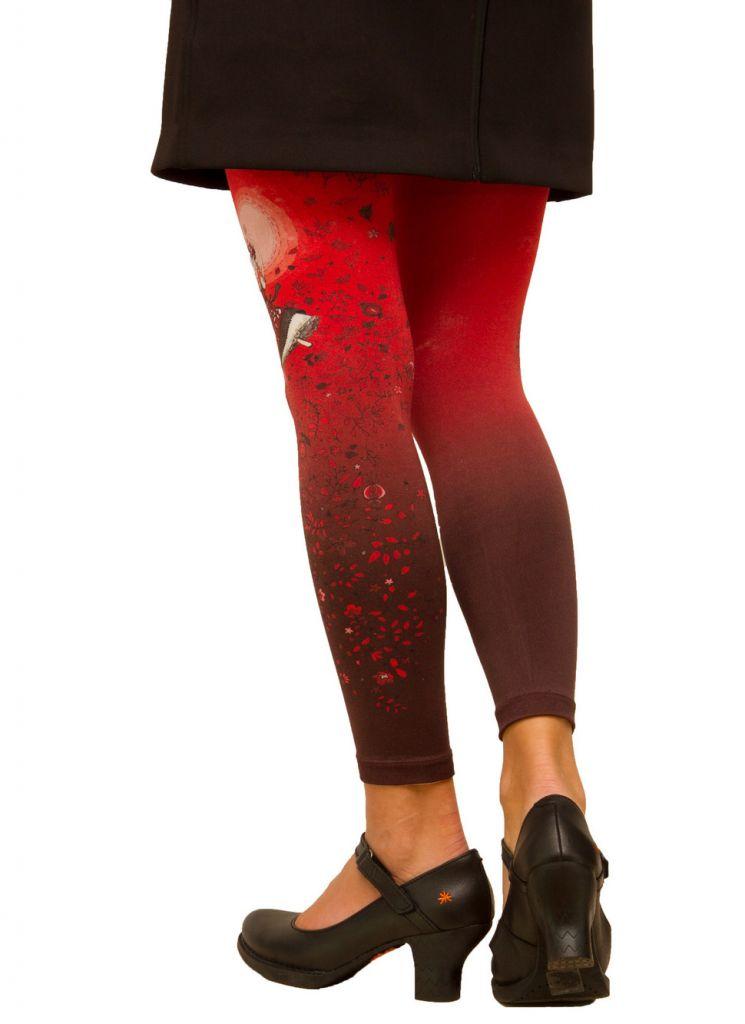 Legging coloré femme rouge Folk Lili gambettes