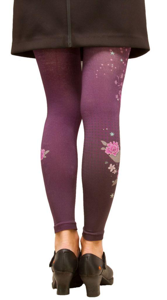 Legging fantaisie femme violet Kitsch\'N Lili gambettes