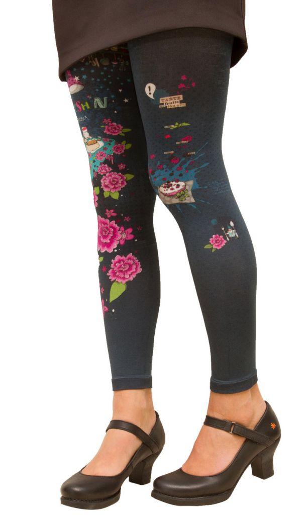 Legging habillé original bleu Kitsch\'N Lili Gambettes