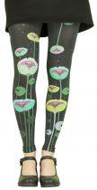 Leggings fantaisie 100 deniers Liligambettes thème floral