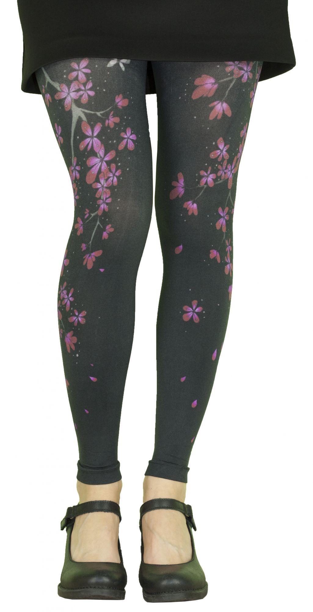Leggings femme fantaisie Liligambettes thème sakura
