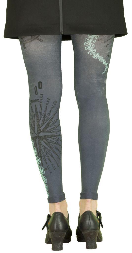 Leggings illustrés Liligambettes thème tentacules