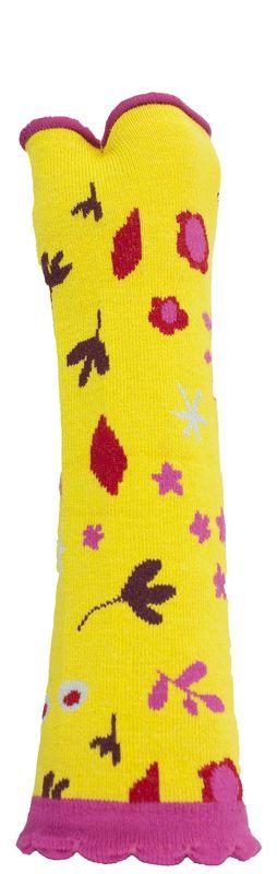 Mitaines jaunes originales Liligambettes en coton bio thème liberty