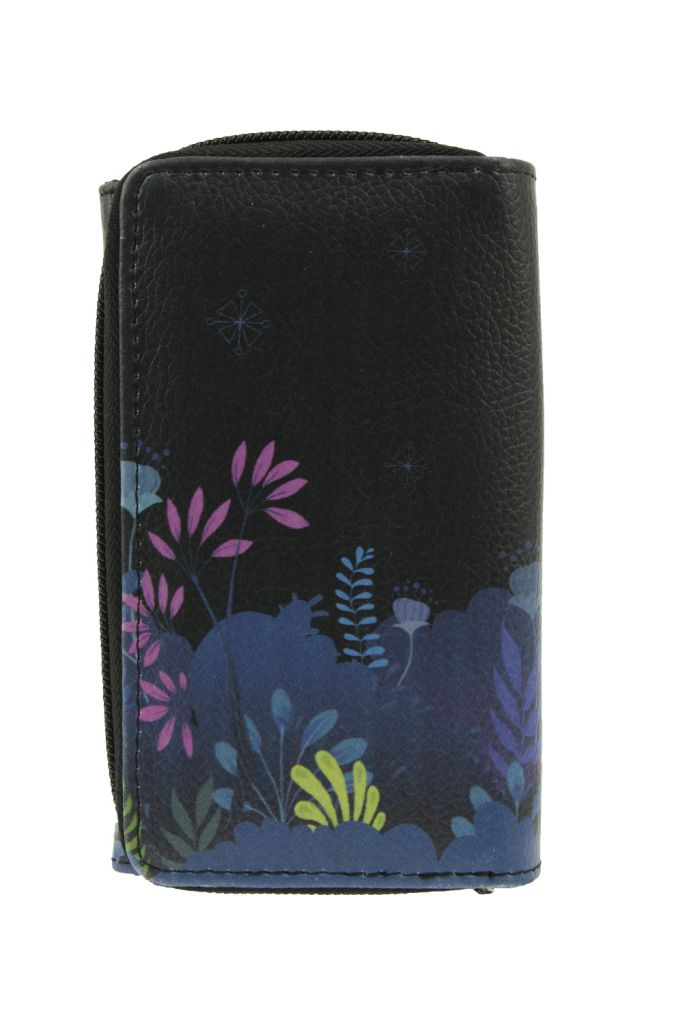 Portefeuille bleu fantaisie en cuir vegan algues hinder Lili gambettes
